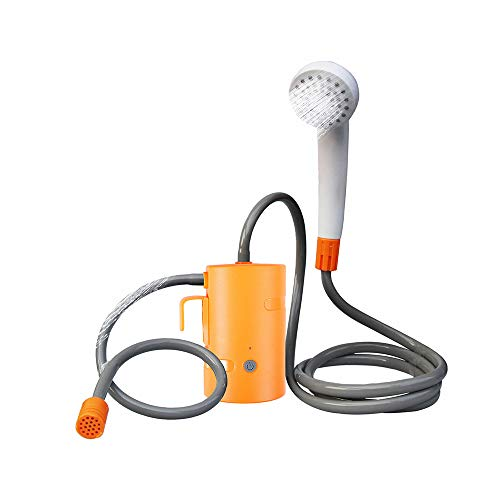 GGJJ ZHZZ Portable Camping Doccia, Essere Illuminato Compatto Camping Showerhead con Il Tubo Flessibile E Gancio Regolabile, per Il Campeggio Esterna Facendo Il Bagno di Lavaggio del Cane A Secco