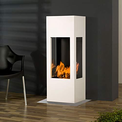 Muenkel design Prism Fire [bio-ethanol haard 3-zijdig zicht]: zuiver wit (warm)
