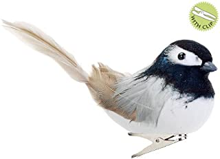 clip on feathered bird ornaments
