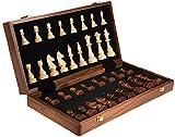 Juego de ajedrez portátil Juegos de ajedrez Chess Solid Wood Set de madera plegable juego de mesa Contiene 2 Queens, para niños y adultos regalos de ajedrez Ajedrez de madera con juego de mesa de ajed
