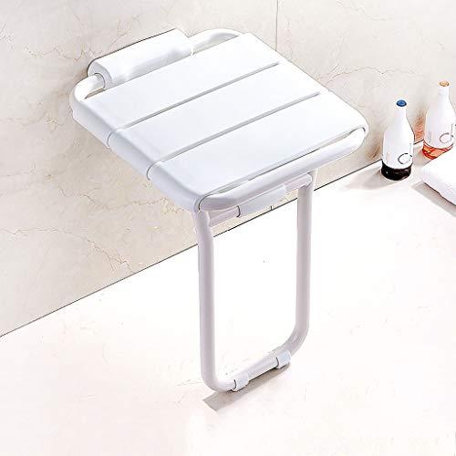 Wand- aluminiumlegering douche stoel, douche klapstoel met rubberen voetjes, badkamerkruk voor badkamer, ouderen, gehandicapte en beperkte mobiliteit.