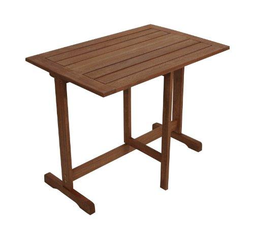 gartenmoebel-einkauf Klappentisch Porto 90x60cm aus Eukalyptus Holz, FSC®-Zertifiziert