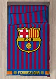 Juego De Sábanas FC Barcelona Cama de 90 - Encimera, Bajera y Funda de Almohada