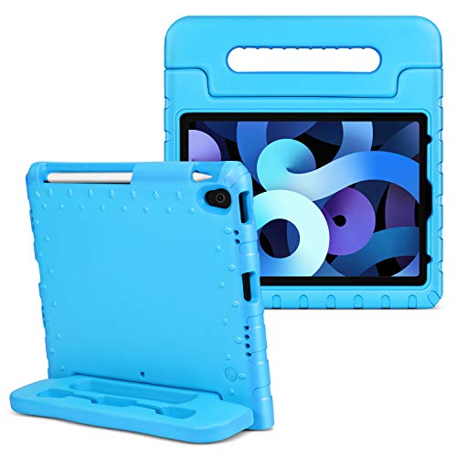 TNP Funda Compatible con iPad Air 4th 10,9 Pulgadas y iPad Pro 3rd 11 Pulgadas 2018, Carcasa Protectora de EVA con Asa Convertible y Función de Soporte para Tabletas, Estuche Antigolpes - Azul