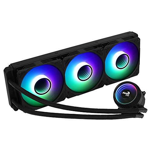 Aerocool MIRAGEL360, Refrigeración Líquida CPU, 3xVentilador 12cm ARGB, TDP 550W, Negro