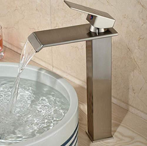 MingXinJia Wasserhahn, für Badezimmer, Wasserhahn, Wasserfallstil, Auslaufarmatur, Waschbeckenarmatur, Hebel, Hebel, für Badezimmer, Spülbecken