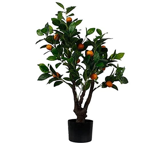 LANHA Künstlicher Orangenbaum, Simulation Orange Obstbaum, Künstliche Pflanze mit Topf, für Hochzeitsfeier Zuhause Büro Bonsai Dekor Multi-Größe