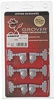【国内正規輸入品】 GROVER グローバー ギター・ペグ 109C 3:3用6個セット クローム