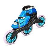 CNMJI Patines De Ruedas En Línea Patines en línea para Hombre y Mujer, Unisex Rollerblade, Zapatos de Skate para Principiantes Inline Skates Patines Profesionales en línea,Azul,37