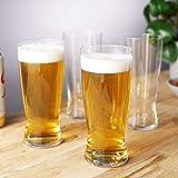 Spiegelau & Nachtmann, 4 teiliges Helles-Bier Glas-Set, Kristallglas, 560 ml, 4991971, Beer Classics - 4