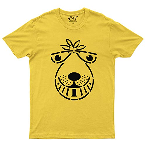 Men's Yellow Space Hopper T-shirt. Choice of colours available.