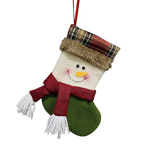 Triamisu New Christmas Sock Gift Bag Small SocksSnowman - Multicolor