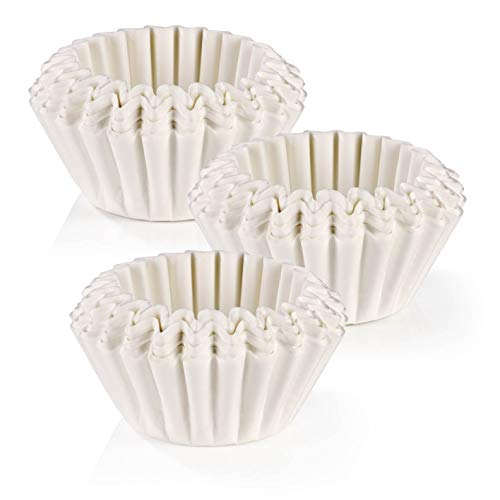 BEEM Original Universal-Korbfiltertüten 300 Stück - 10 Tassen | geschmacksneutral | 80/200mm Papierfilter für Kaffeemaschinen mit Korbfilter | weiß