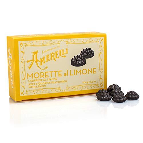 Amarelli Morette al Limone, Weiches Lakritz mit Zitrone, 2er Pack, 2 x 100 g, Amarelli Italien