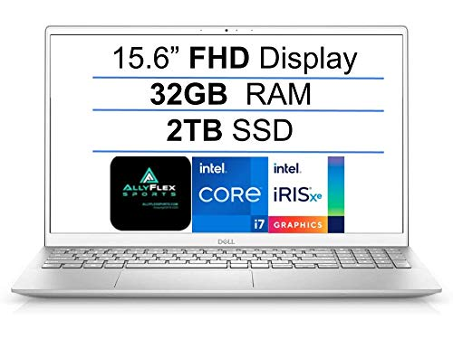 2021 Newest Dell Inspiron 5000 Series 15.6'' FHD Business Laptop, Intel Quad-Core i7-1165G7(Up to 4.7GHz), 32GB RAM, 2TB SSD, Webcam, HDMI, Backlit Keyboard, Fingerprint, Windows 10, WiFi 6, Gift MP
