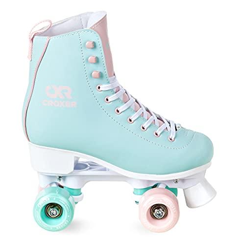Croxer Rollschuhe Roller Skates Lea (Mint/Pink, 40 (26cm))