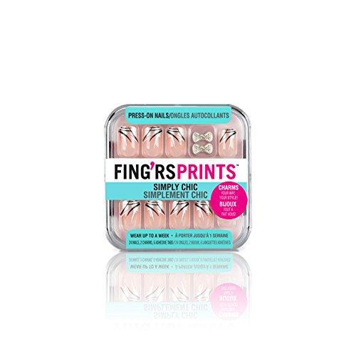 Esecuzione di stampe Pre incollato Fing'rs Semplicemente Chic Nails, Born...