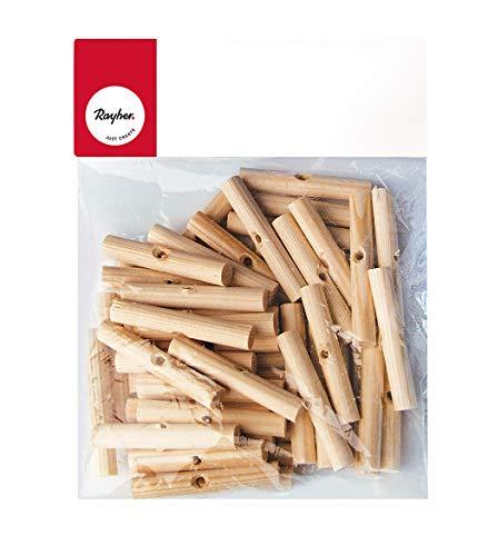 Rayher 6121000 Palmenhölzchen, 47 mm, 10 mm ø, Btl. 50 Stück, für Osterpalmen, Eierbaum, traditionellen Osterschmuck Palmsonntag, Osterbaum, auch für Herbstdekorationen