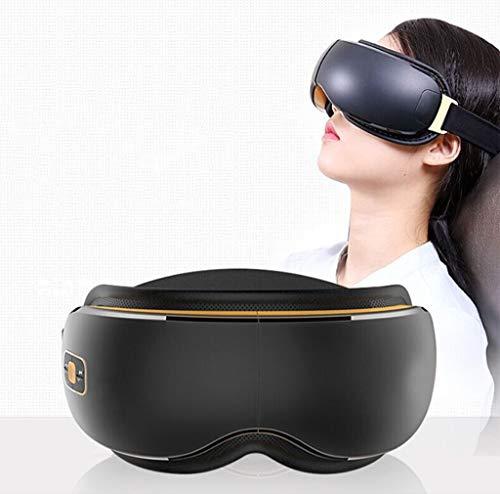 Gafas de masaje eléctrico con compresión-vibración masajeador templo de relajación ojos secos ojo ojo círculos negros recargables de música al aire compresa caliente gran regalo for mejorar el sueño