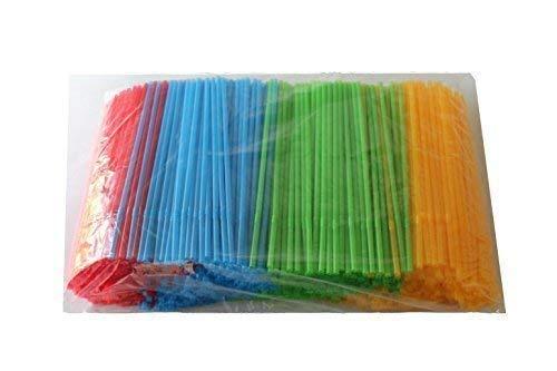 1000 Stück bunte Trinkhalme farbig gemischt knickbar 23,5 cm Ø 5 mm