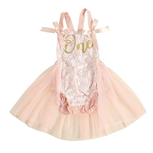 Toddler Newborn - Vestido sin mangas con tutú de encaje para fiesta...
