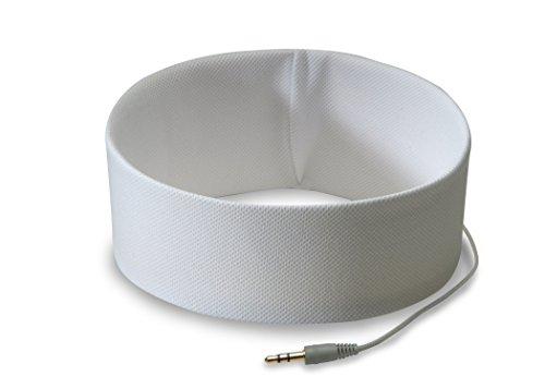 AcousticSheep RS1BL RunPhones zacht/comfortabele sporthoofdband met geïntegreerde hoofdtelefoon voor smartphones en MP3-speler Medium wit