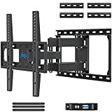 """Mounting Dream TV Mount Full Motion TV Wall Mounts for 26-55 Inch Flat Screen TV, Wall Mount TV Bracket with Dual Arms, Max VESA 400x400mm and 99 LBS, Fits 16"""", 18"""", 24"""" Studs MD2380-24K TV Mounts"""