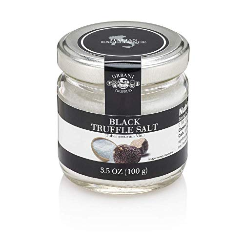Italian Black Truffle Salt - 3.5 Ounce - By Urbani Truffles. Made In Italy. Strong Taste And Smell. Perfect To Boost Flavor To Any Kind Of Food.
