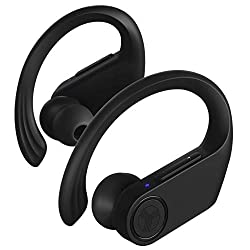 commercial powerbeats2 wireless waterproof Treblab X3 Pro – Genuine wireless earphones with earhooks – 45 hours battery life, Bluetooth 5.0 with aptX, waterproof IPX7 earphones – TWS Bluetooth earphones with charging case for sports, running and training