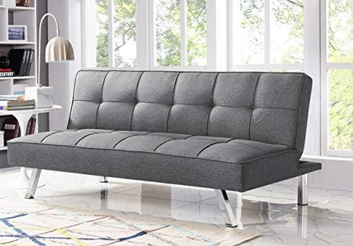Best Serta RNE-3S-CC-SET Rane Collection Convertible Sofa, L66.1 x W33.1 x H29.5, Charcoal