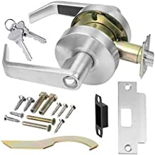 Commercial Cylindrical Lever Heavy Duty Non-Handed Grade 2 Door Handle Lawrence LH5304L (Keylock/Entrance, Brushed Chrome (US26D))