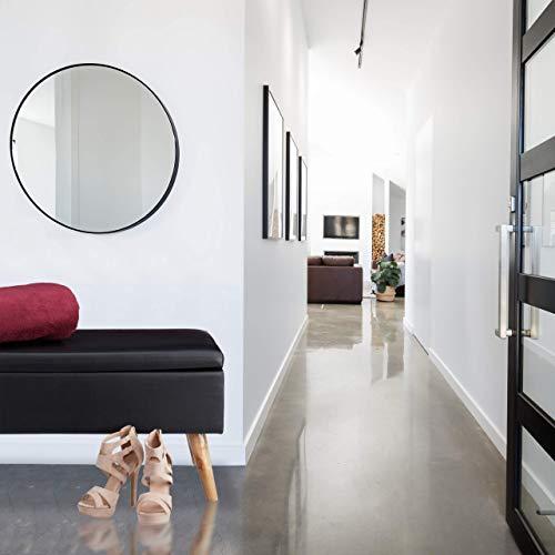 Relaxdays Sitzbank mit Stauraum, 40 L, gepolstert, Holzbeine, Truhenbank Kunstleder, HxBxT: 40 x 80 x 39,5 cm, schwarz, Größe - 2