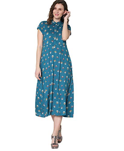 Morpankh by FBB Printed Short Kurta Blue