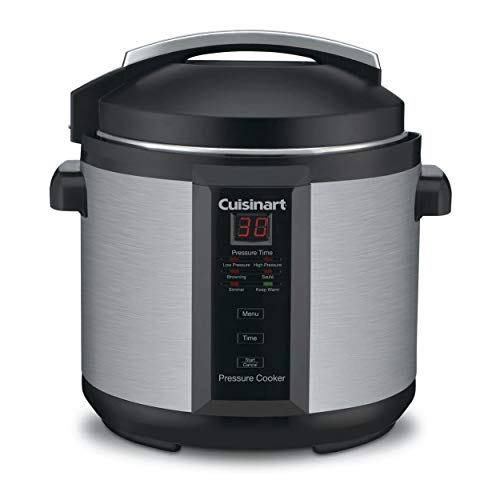 Cuisinart 6-Quart Electric Pressure Cooker (Brushed Stainless and Matte Black)