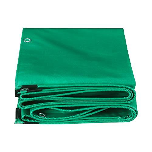 Outdoor impermeable resistente al desgarro de servicio pesado Tarpaulina verde lona de lona de lona de muebles multiusos Cubierta de caravana Tarpaulin para jardín Piscina Car Truck Camping