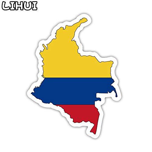 BLOUR Pegatina de la Bandera de Colombia Juguete para niños Países Mapa Pegatinas de Viaje a DIY Scrapbooking Maleta Equipaje Laptop Coche Motor 1 Pcs