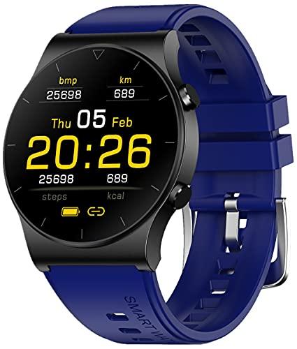 Reloj Inteligente, Reloj rastreador de Ejercicios a Prueba de Agua IP67 con podómetro de presión Arterial, Reloj Deportivo para Hombres y Mujeres (Verde)