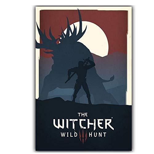 Elegante Poëzie Moderne Eenvoudige Game Witcher 3 Canvas Schilderen Art Print Afbeelding Poster Wanddecoratie Muren Jongen Home Decoratie - 50x70cm Geen Frame