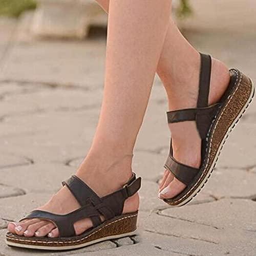 DZQQ Nuevas Sandalias de Verano para Mujer, Tacones...