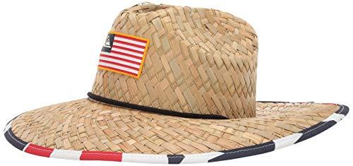 Quiksilver Men's Outsider Merica Sun Protection HAT, Natural, L/XL