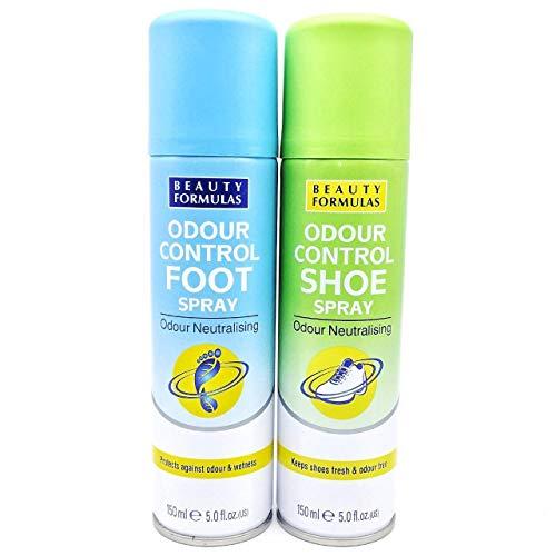 Beauty Formulas Odour Control Shoe Spray & Foot Spray, 150ml Cans. Antibacterial & Anti-fungal