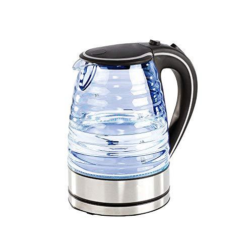 Domoclip DOD128N Wasserkocher aus Glas 1,7l, schwarz