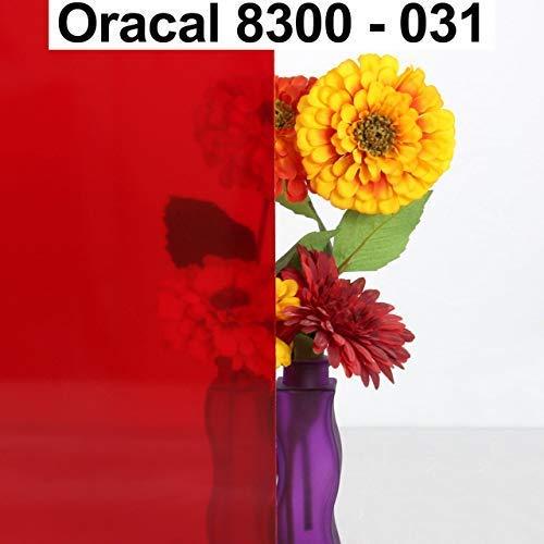 6,76€/m² Oracal Transparente Fensterfolie 8300 031 Rot 63 cm Breite