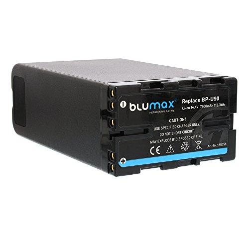 Blumax Akku 7800mAh - 14,4V - 112,3Wh für Sony BP-U60, BP-U30, BP-U90, BP-U95 passend für PMW-EX1, PMW-EX3,PMW-F3, PMW-100, PMW-150, PMW-200, PXW-FS7, PXW-X160, PXW-X180, PXW-X200