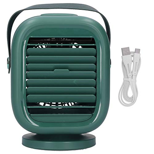 Mini condizionatore d'aria di grande capacità per ufficio, camera da letto, studio(verde)