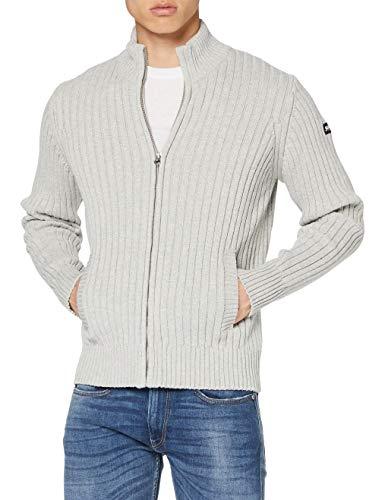 Schott NYC Plecorage1 Maglione Pullover, HEA L.Grey, Large Uomo