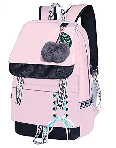 SaleBox Backpack for Girls Kids Schoolbag Children Bookbag Women Casual Daypack (Baby Pink)