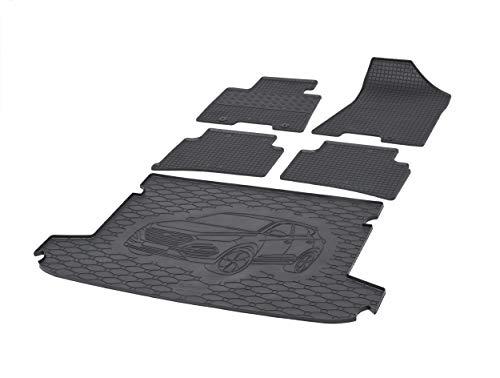 Fußmatten und Kofferraummatte Rigum Geeignet für Hyundai Tucson 2015-2020 Set + Auto Duft/BesteKauf