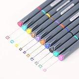 Lihgfw Muy Simple y Fino de Color Gancho del Tubo de Pluma Trazo de lápiz de Fibra de 0,38 mm Pluma Pluma de la Acuarela de 10 Colores Box Set