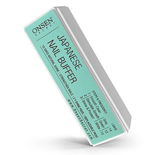 Onsen Professional Nail Buffer, Ultimate Shine Nail Buffing Block With 3 Way Buffing Methods, Smooth & Shine After Onsen Nail Filer, Compact Purse Size Manicure Tools for Optimum Nail Care